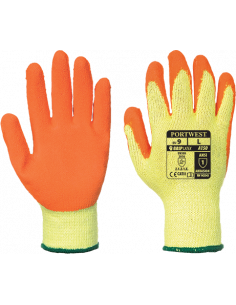 12 Pairs Portwest A171 Latex Open Back Crinkle Safety Work Wear Gloves Green