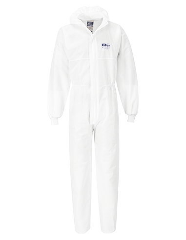 BizTex SMS Coverall With Knitted Cuff...
